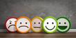 canvas print picture - 3D Illustration bunte Emotionen und Gefühle