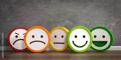 Valokuva  3D Illustration bunte Emotionen und Gefühle