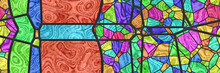 3d Stained Glass- Abstract Mos...