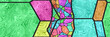 Leinwanddruck Bild - 3d stained glass- abstract mosaic architecture