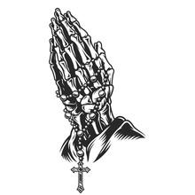 Vintage Skeleton Praying Hands...