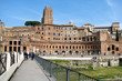 Trajan's market in Rome. The remains of an antique market building built by Emperor Trojan. Ancient Roman indoor market in the centre of Italy.