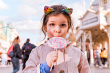 Little Girl With Big Lollipop ...