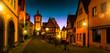Plönlein in Rothenburg ob der Tauber bei Dämmerung Deutschland