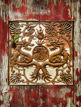 Detailed Carving Of A Dragon I...