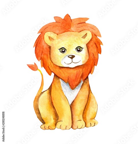 sliczny-akwareli-ilustracyjny-lew-ja