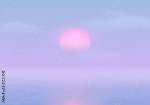 Sun Over The Sea With Sun Road And Vaporwave 90s Styled Blue And Pink Colors Buy This Stock Vector And Explore Similar Vectors At Adobe Stock Adobe Stock