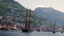 Old Sailships In Harbour