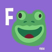 English Alphabet For Kids Letter F Frog