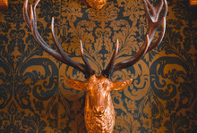 Decorative Fake Deer Head With...