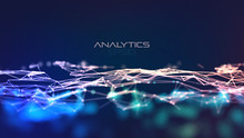 Modern Illustration With Plexus On Light Background. Abstract Technology Blue. Abstract Tech Background. Data Connection Concept. Dot Texture Background. Scientific Cybernetic Illustration.