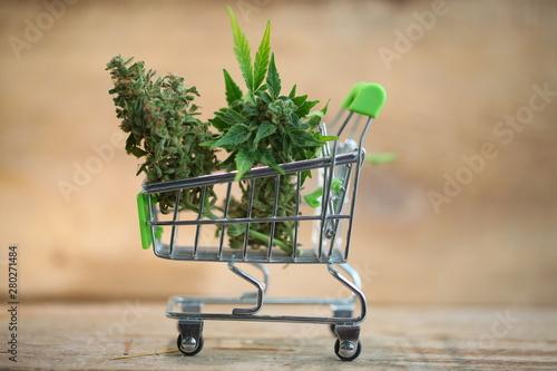 supermarket trolley marijuana medical cannabis  cbd Wallpaper Mural