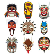 Tribal Masks Set 10