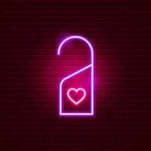 Hotel Label Love Neon Sign