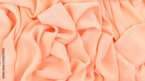 Obraz na plátně  Thin chiffon fabric as an abstract background