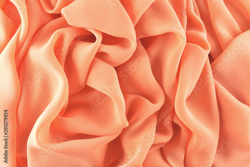Fotografie, Obraz  Thin chiffon fabric as an abstract background
