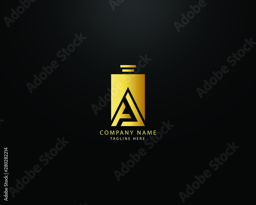 Obraz Luxury and professional writing A letter with perfume abstract Logo Template Design Vector, Emblem, Design Concept, Symbol, Icon - fototapety do salonu