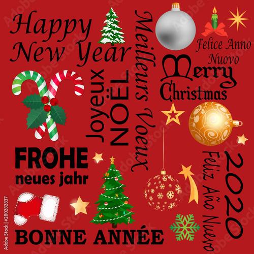 Joyeux Noel Bonne Année Joyeux noël et bonne année   Buy this stock vector and explore