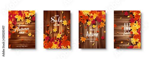 Photo  Autumn falling leaves