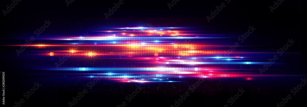 Fototapeta Abstract background. Beautiful light. Magic sparks. .Mystical shine streaks. Empty place. Glint cosmic rays. .Neon wind lines. Glow effect. Power energy. .Futuristic wave Flash. Glare splash..