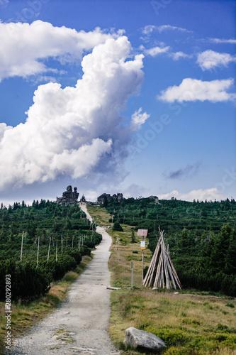 Fototapeta On the trail in Giant Mountains (Karkonosze), Polish - Czech Republic border. European Union.  obraz
