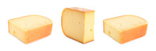 Set Of Delicious Cheese On Whi...