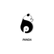Panda Logo Design. Letter B With Panda Icon Design. Panda Logo. Modern Design