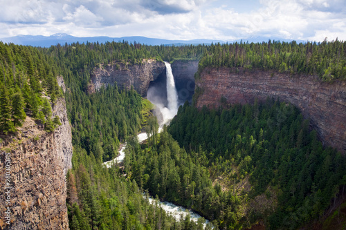 Poster Forest river Helmcken falls Canada during day