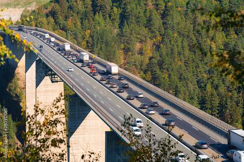 Fotomural  Europabrücke am Brenner