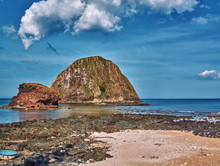 The Cape Of Mui Yen With Volcanic Rock Outcrops Offshore, Phu Yen Province Central Vietnam
