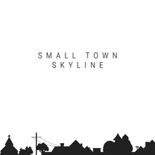 Small Town Skyline Silhouette....