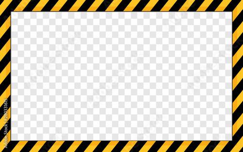 stripes warning frames border under construction background Canvas Print
