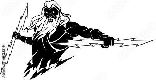 Photo Zeus with Lightning Bolt