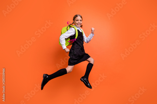 Valokuva  Full length body size view of nice attractive lovely cheerful cheery glad dilige