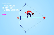 Businessman Standing On A Bow ...