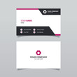 Modern purple bussines card template. Elegant element composition design with clean concept.
