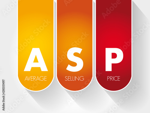 Photo ASP - Average Selling Price acronym, business concept background