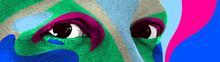 Looking Eyes 8 Bit Dotted Desi...