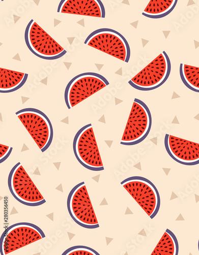 creative seamless pattern of watermelon - 280356450