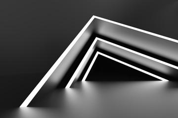 Abstract Interior Design. Black Modern Background