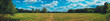 giant panorama of grass field in the forest