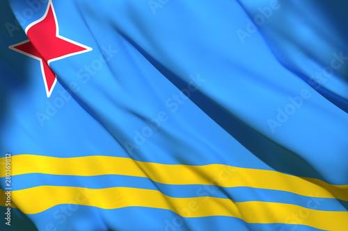 Aruba flag waving Canvas Print