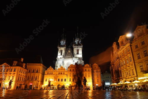 Wall Murals Prague Prague old city square night view