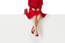 Beautiful Legs Woman Wearing R...
