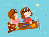 Kids Fly Suitcase Travel Make Believe