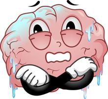 Mascot Brain Freeze Illustration