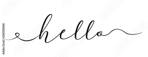 Fototapeta World hello day template black color editable on white background for graphic and web design