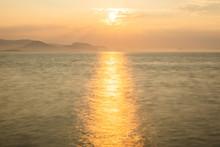 夕方の優しい海