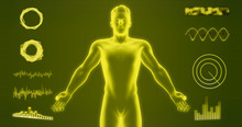 Abstract Man Body Hologram Iso...