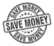 Save Money Stamp. Save Money Round Grunge Sign. Save Money